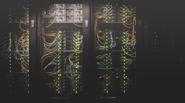 Picture of a server rack